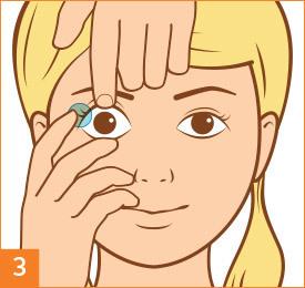 Étape3: Posez vos lentilles de contact
