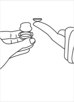 Instructions pour mettre des lentilles de contact
