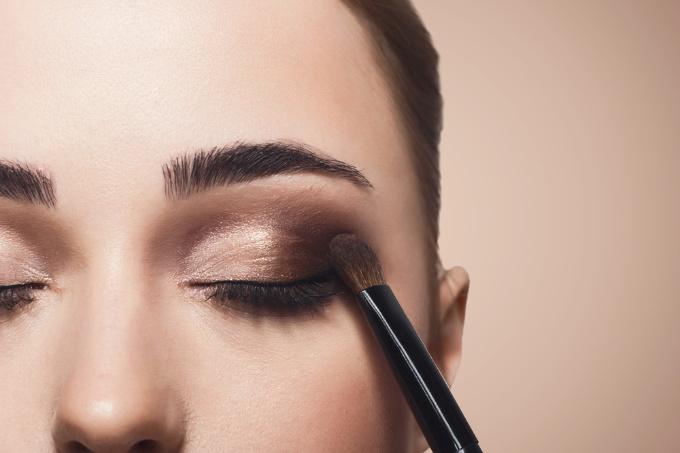 maquillage avec lentilles