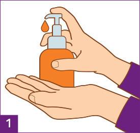 Étape1 Lavez et séchez vos mains