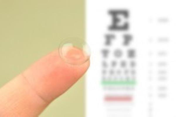 Examens de la vue pour lentilles de contact