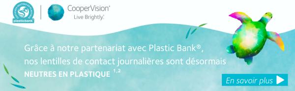 Bannière neutralité plastique CooperVision